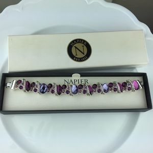 NEW Napier Multi Colored Purple Stone Bracelet